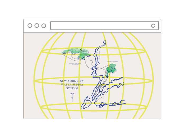 An image of a web browser with the Public Water map illustration.