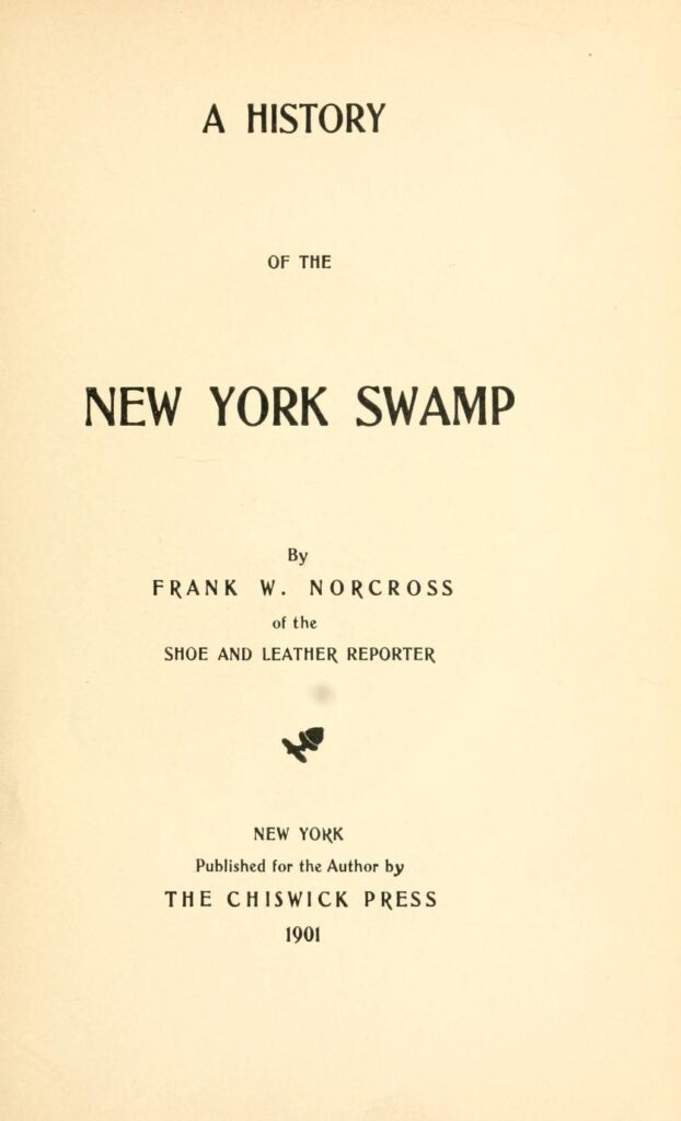 Pages scanned from a book (title page, acknowledgements, and intro on the history of the swamp).